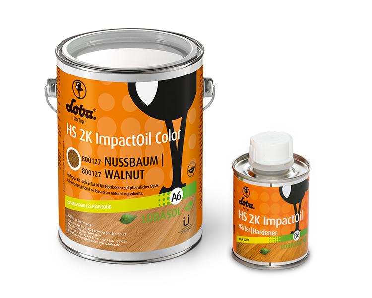 Олія для паркету Loba HS 2K Impact Oil Color Горіх 0